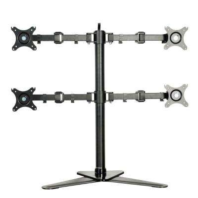 Full Motion Free Standing Quad Monitor Arm Desk Mounts Stand Fits 10 in. - 27 in. LCD Screens 22 lbs. Per Arm