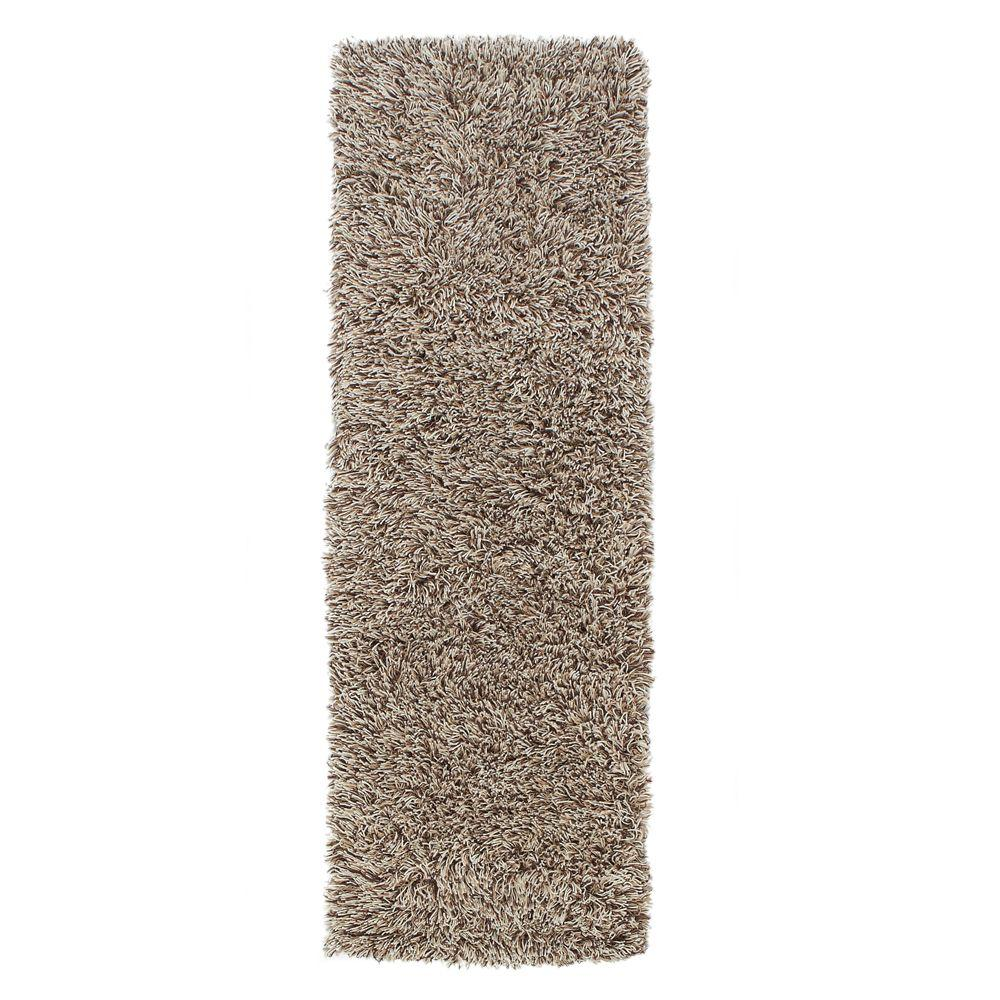 Home Decorators Collection Ultimate Shag Cookies and Cream 2 ft. 6 in. x 8 ft. Rug Runner