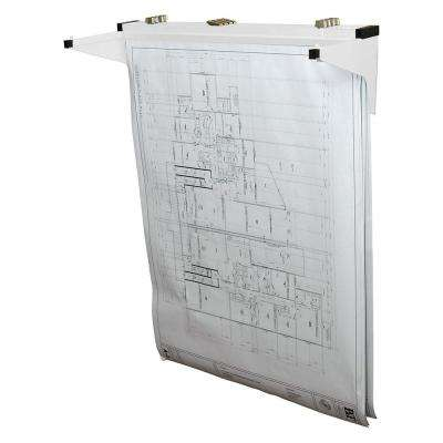 Drop Lift Blueprint Wall Rack, White