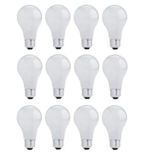 43-Watt A19 Dimmable Soft White Light Halogen Light Bulb (12-Pack)