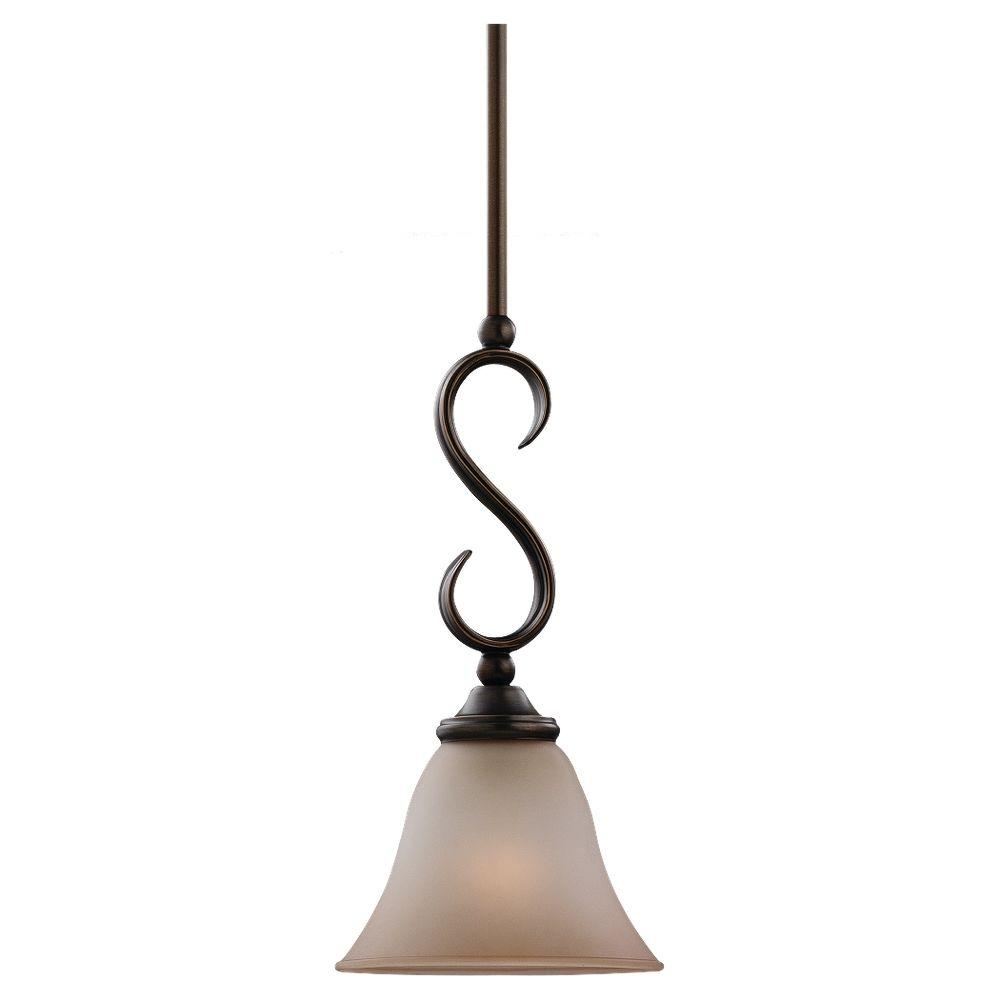 Sea Gull Lighting Rialto 1 Light Russet Bronze Mini Pendant