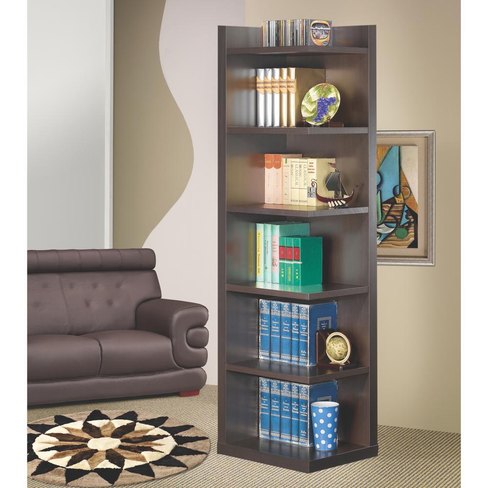 Hughes Cappuccino Corner Bookcase