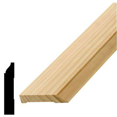 WM 624 9/16 in. x 3 in. x 96 in. Pine Base Moulding