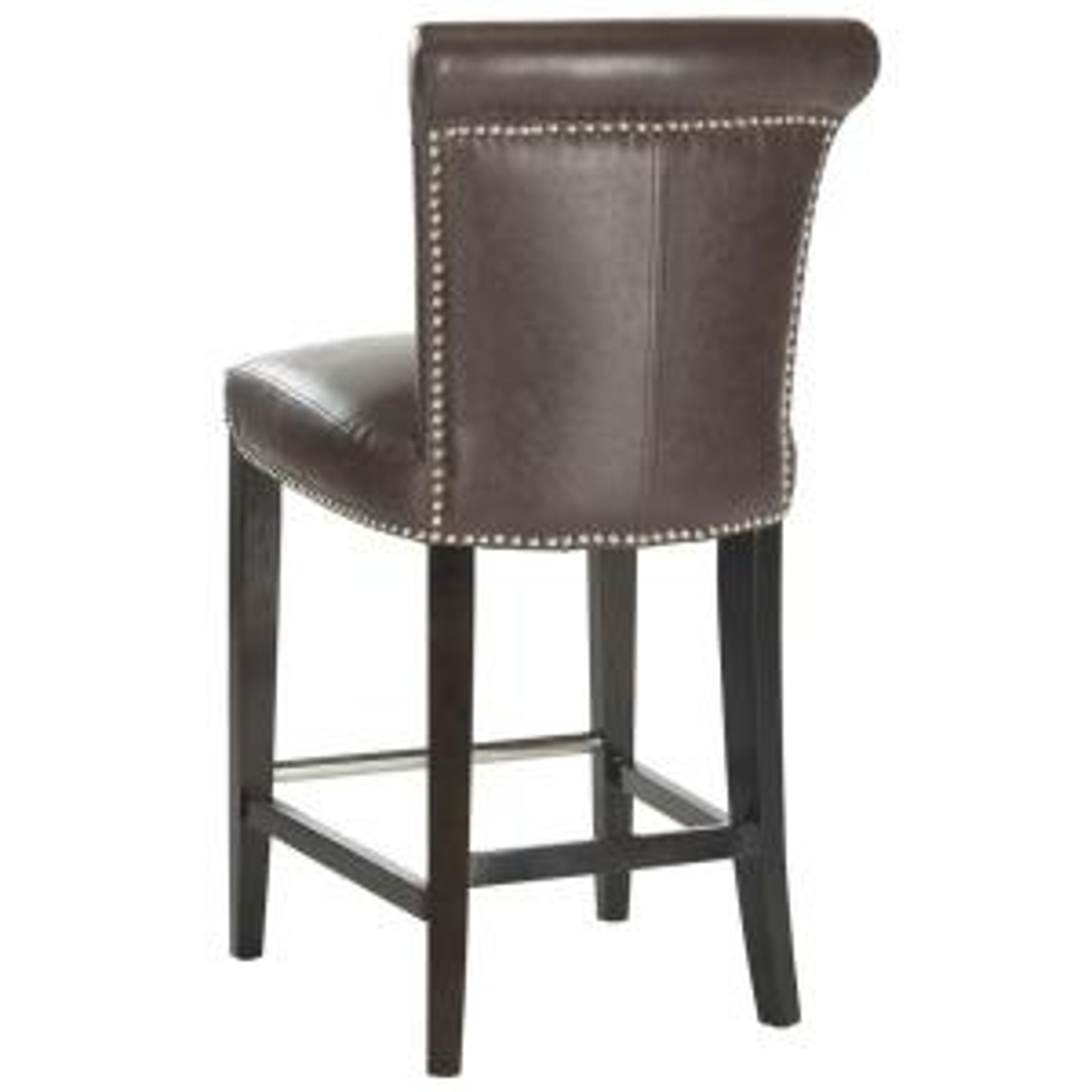 Peachy Safavieh Seth 25 9 In Antique Brown Cushioned Bar Stool Bralicious Painted Fabric Chair Ideas Braliciousco