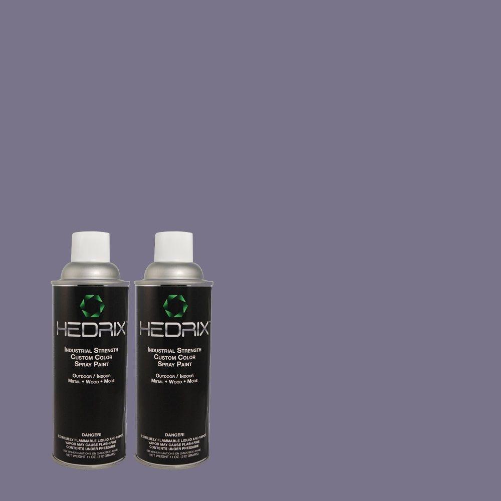 Hedrix 11 oz. Match of 620D-6 Royal Intrigue Gloss Custom Spray Paint (2-Pack)