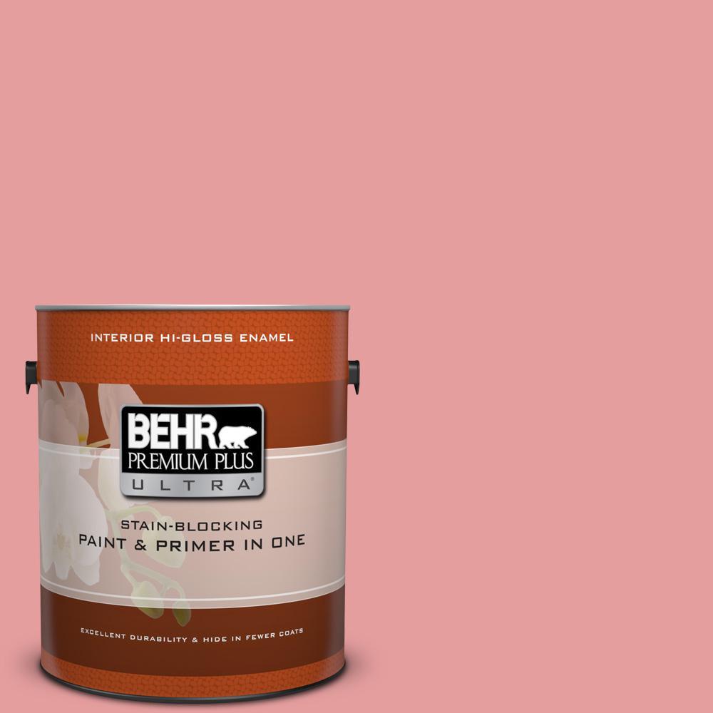 1 gal. #150D-4 Pale Berry Hi-Gloss Enamel Interior Paint