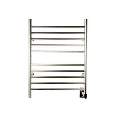 Radiant Straight Hardwired 24 in. W x 32 in. H 10-Bar Electric Towel Warmer in Brushed Stainless Steel