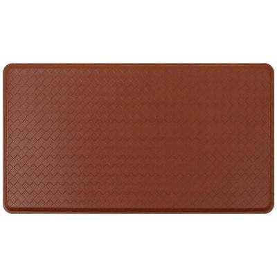 Classic Basketweave Chestnut 20 In. X 36 In. Comfort Kitchen Mat