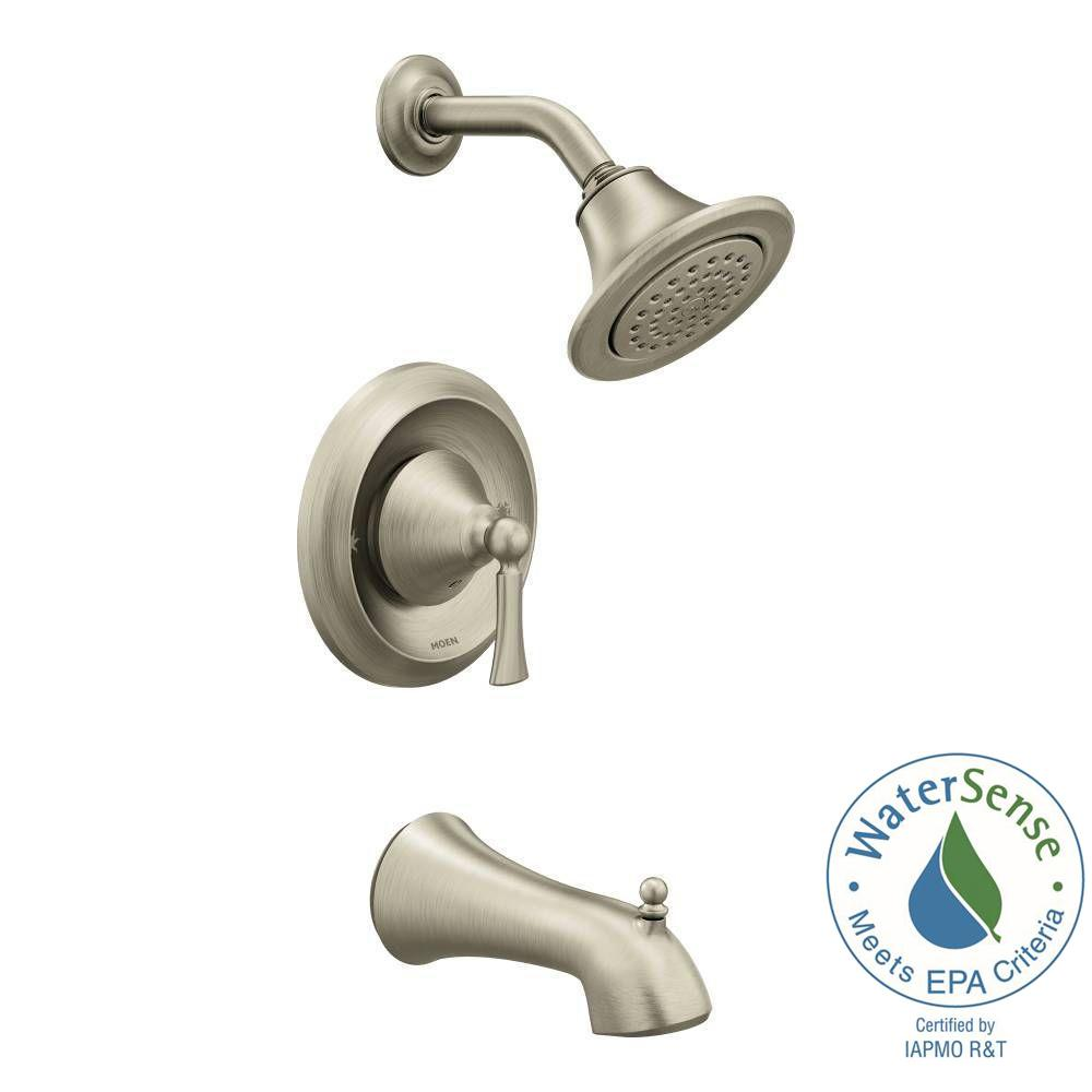 Wynford Single-Handle 1-Spray Tub and Shower Faucet Trim Kit in Brushed