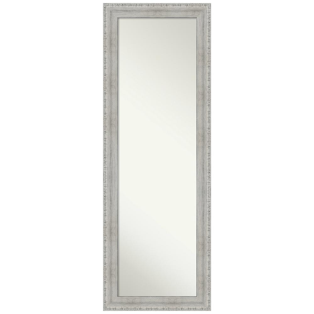 Rustic White Wash 18.38 in. x 52.38 in. On the Door Mirror