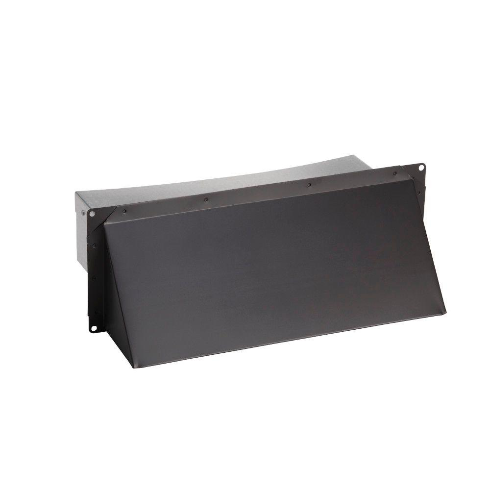 Kitchen Exhaust Vent Wall Cap: Broan-NuTone Steel Wall Cap In Black For 3.25 In. X 14 In