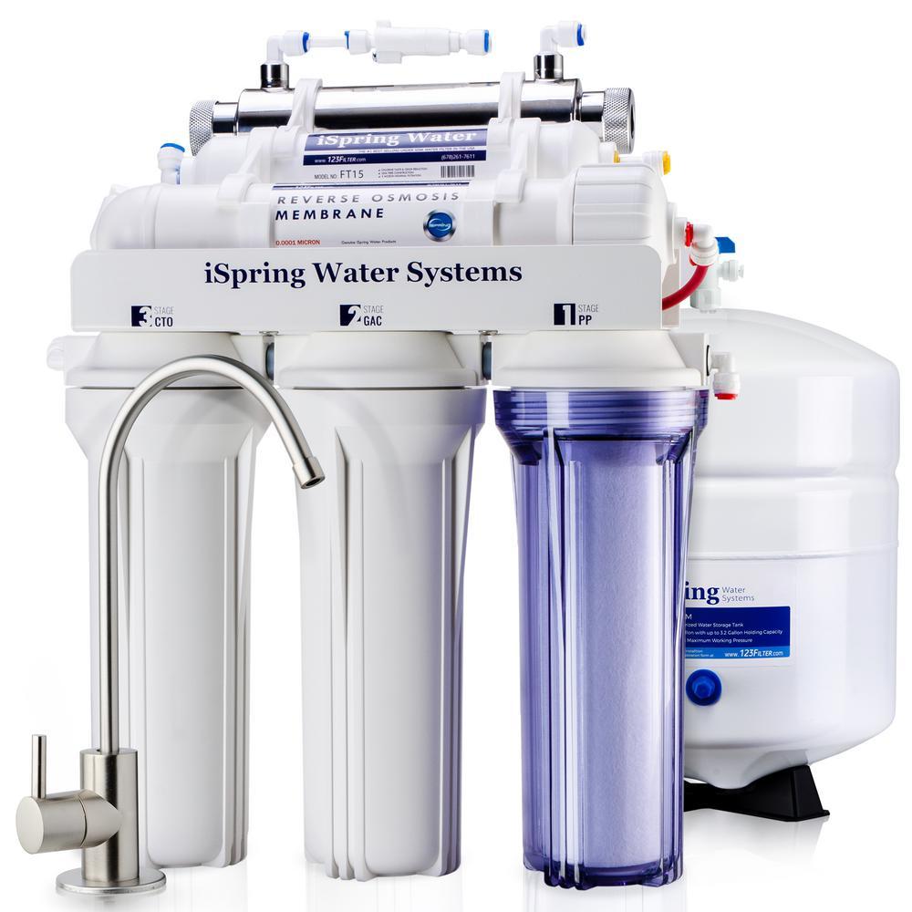Ispring 6 Stage With Uv Sterilizer Filter 75gpd Under Sink