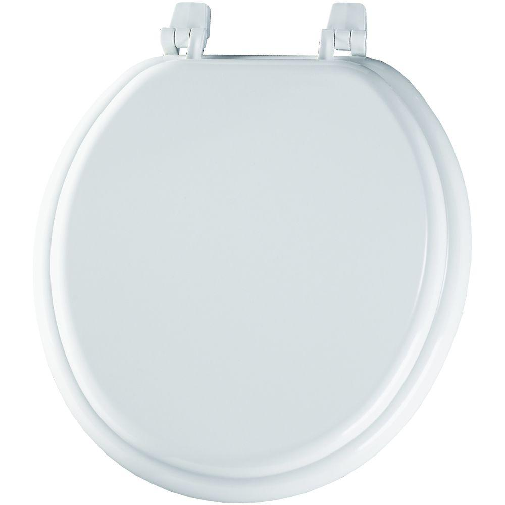 BEMIS Round Closed Front Toilet Seat in White