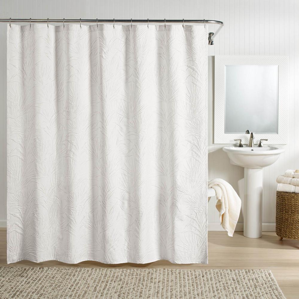 Ella Shower Curtain White