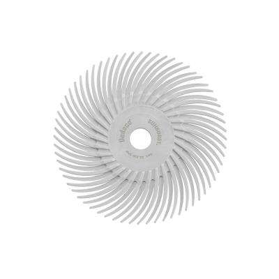 Sunburst 3 in. Radial Discs 3/8 in. 120-Grit Arbor Medium Thermoplastic Cleaning and Polishing Tool (12-Pack)
