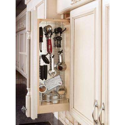 30 in. H x 2.992 in. W x 11.125 in. D Pull-Out Between Cabinet Wall Filler with Stainless Steel Panel