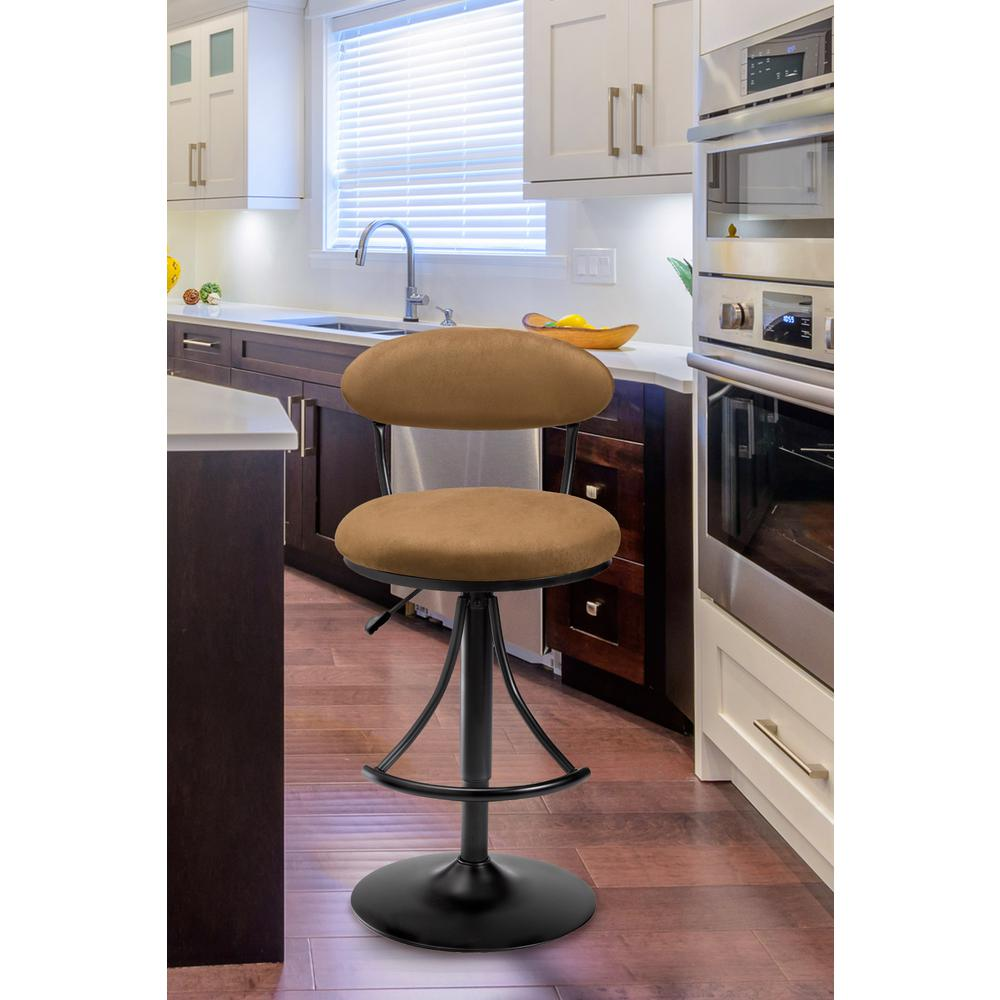 Hillsdale Furniture Venus Adjustable Height Black Powder