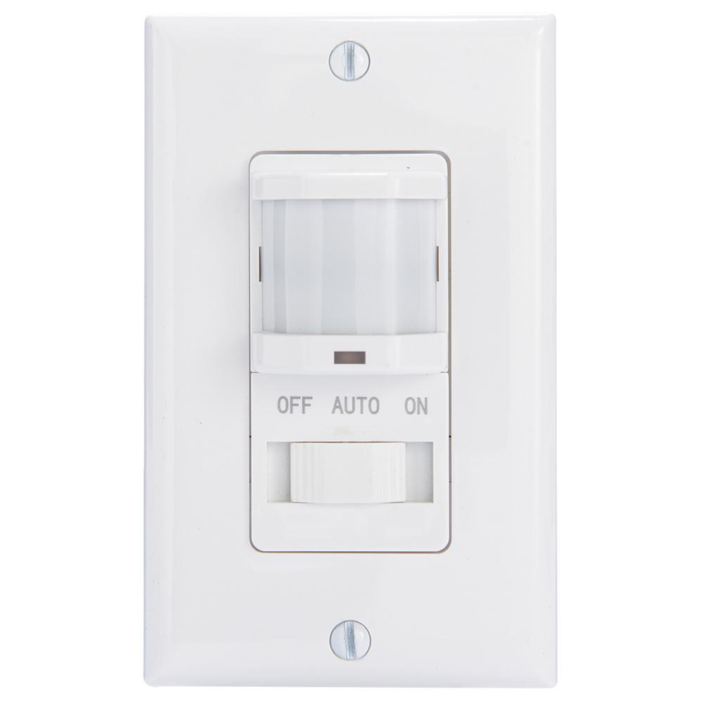 IOS Series 500-Watt Occupancy Switch with Manual Override In-Wall Decorator