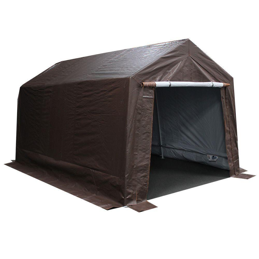 Garage Canopy Attachments : King canopy ft w d brown garage fitted cover