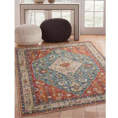 Sonoma Jewels Aqua 7 ft. 10 in. x 11 ft. 2 in. Area Rug