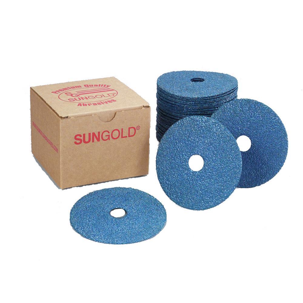 """50-5/"""" Zirconia Resin Fiber Sanding Grinding Disc 60 Grit"""
