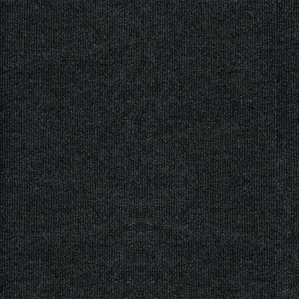 TrafficMASTER Ribbed Gunmetal Texture 18 In X Carpet Tile 16 TilesCase CP44N4716PK