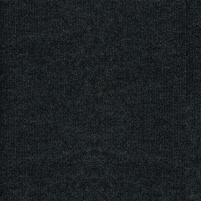 Ribbed Gunmetal Texture 18 in. x 18 in. Carpet Tile (16 Tiles/Case)