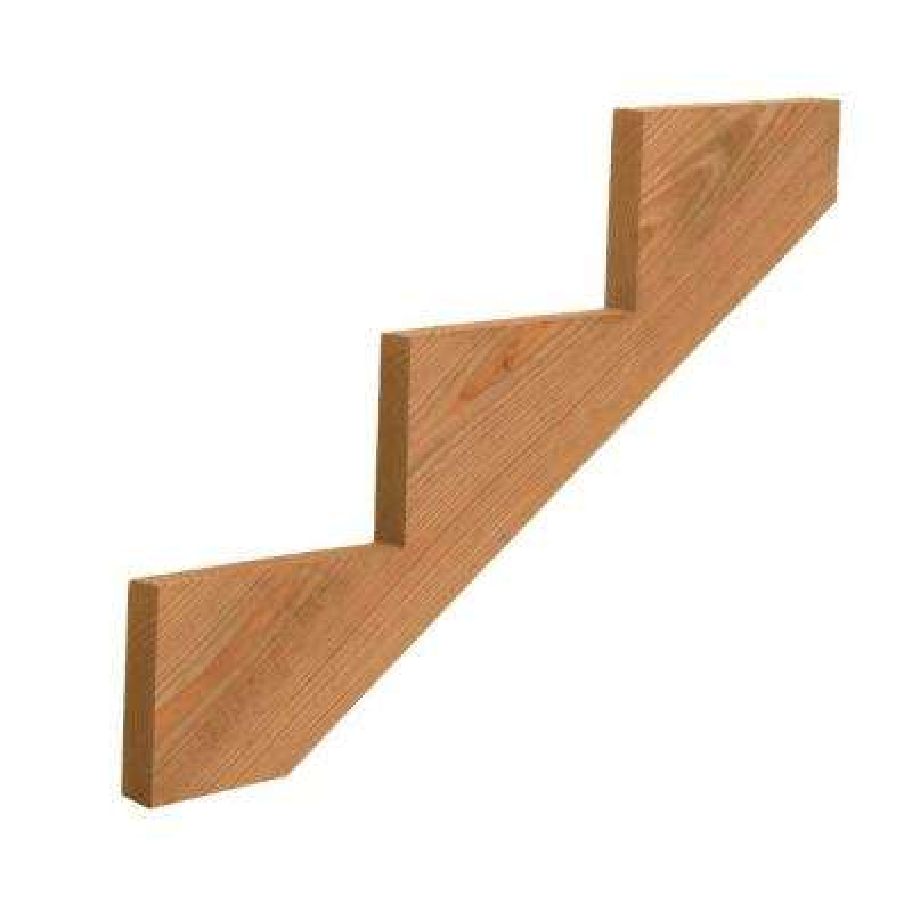 3-Step Cedar-Tone Ground Contact Pressure-Treated Pine Stair Stringer