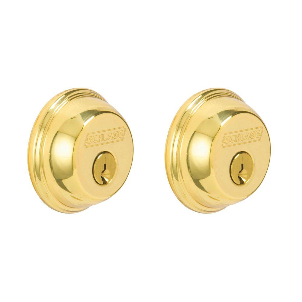 Bright Brass Double Cylinder Deadbolt