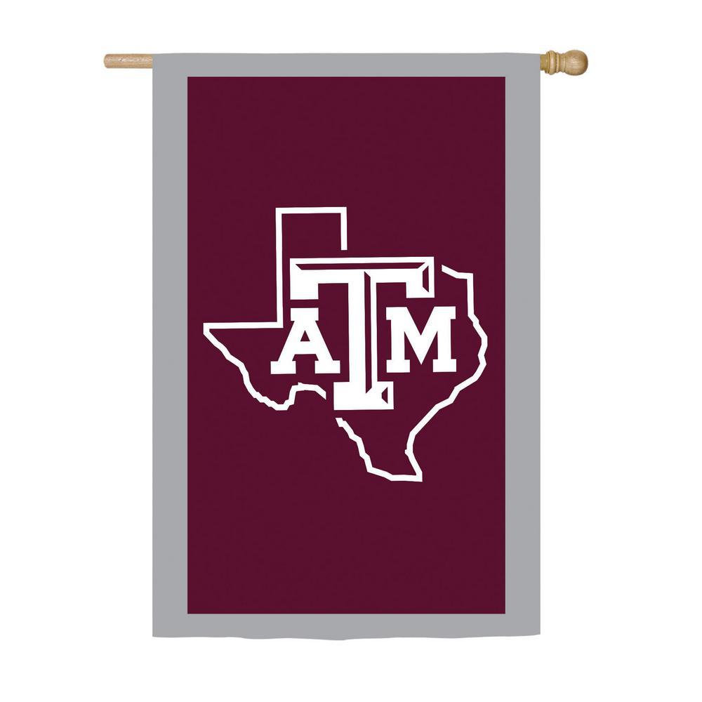 2.4 ft. x 3.6 ft. Texas A&M Applique House Flag