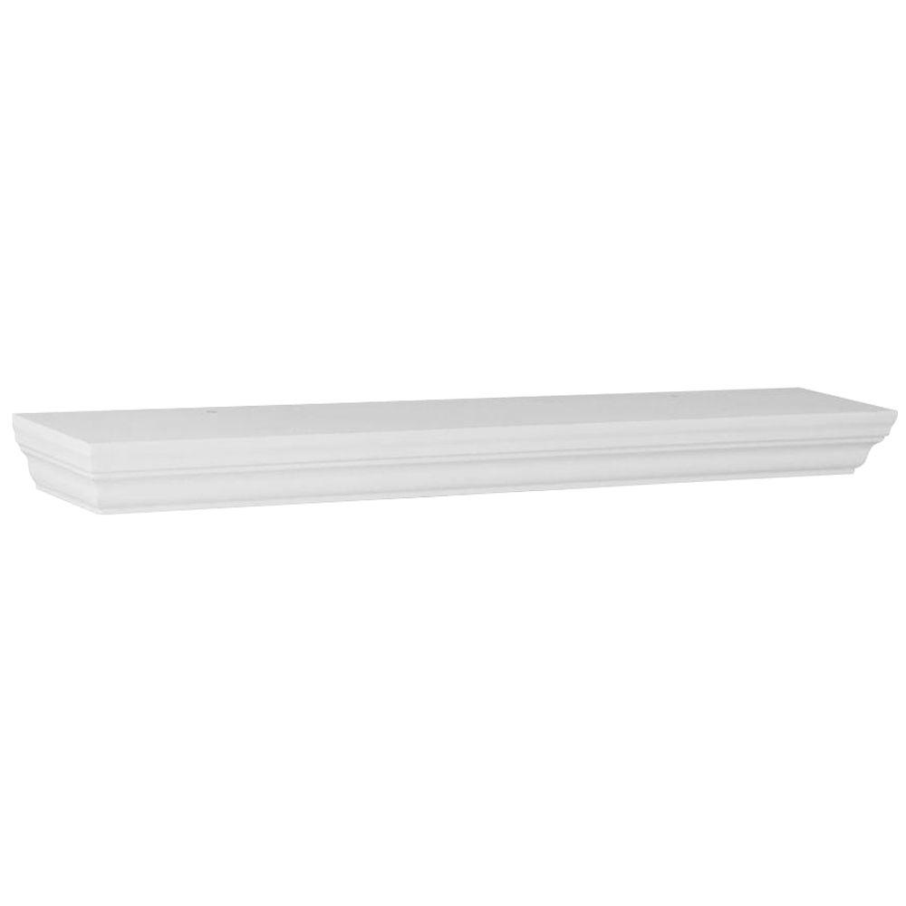 Home Decorators Collection 23.6 in. W x 3.9 in. D x 1.77 in. H White Profile Floating MDF Ledge