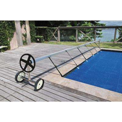 18.7 ft. Stainless Steel In-Ground Swimming Pool Cover Reel Set