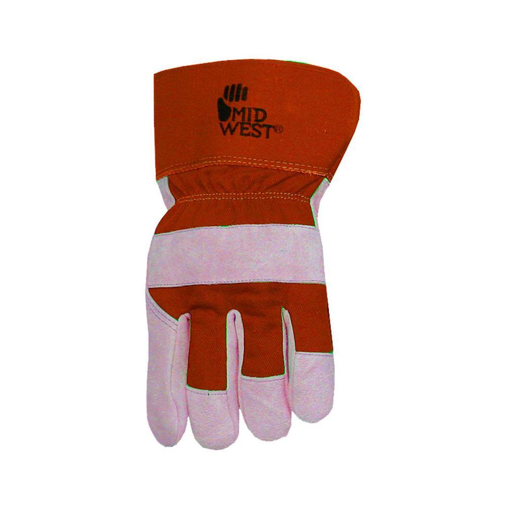 Men's Lined Split Leather Palm Gloves
