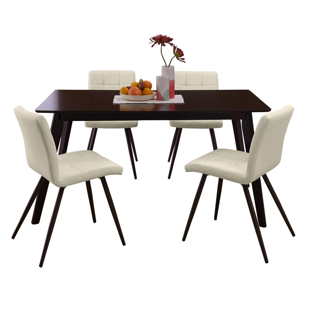 Living And Dining Room Sets: Handy Living Windsor 5-Piece Dining Set With Espresso