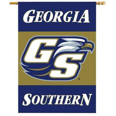 NCAA 28 in. x 40 in. Georgia Southern 2-Sided Banner with Pole Sleeve