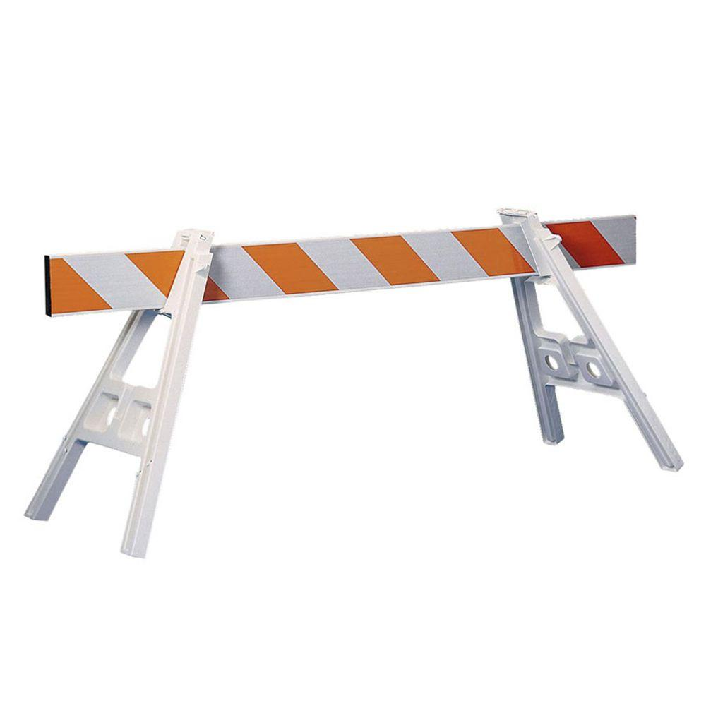 Three D Traffic Works 42 in. Plastic A-Frame Barrier Legs and 72 in ...