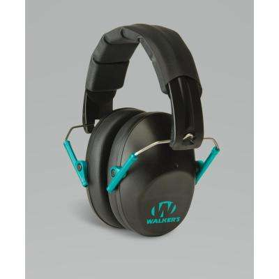 Pro Low Profile Folding Muff in Black and Teal