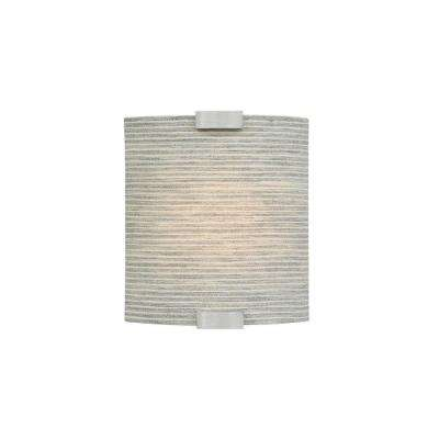Omni 1-Light Silver Small LED Sconce with Pewter Shade
