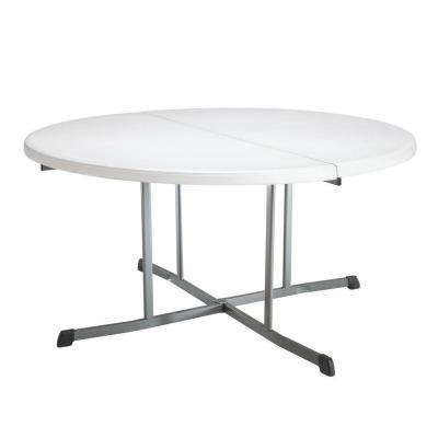 60 in. White Granite Folding Banquet Table