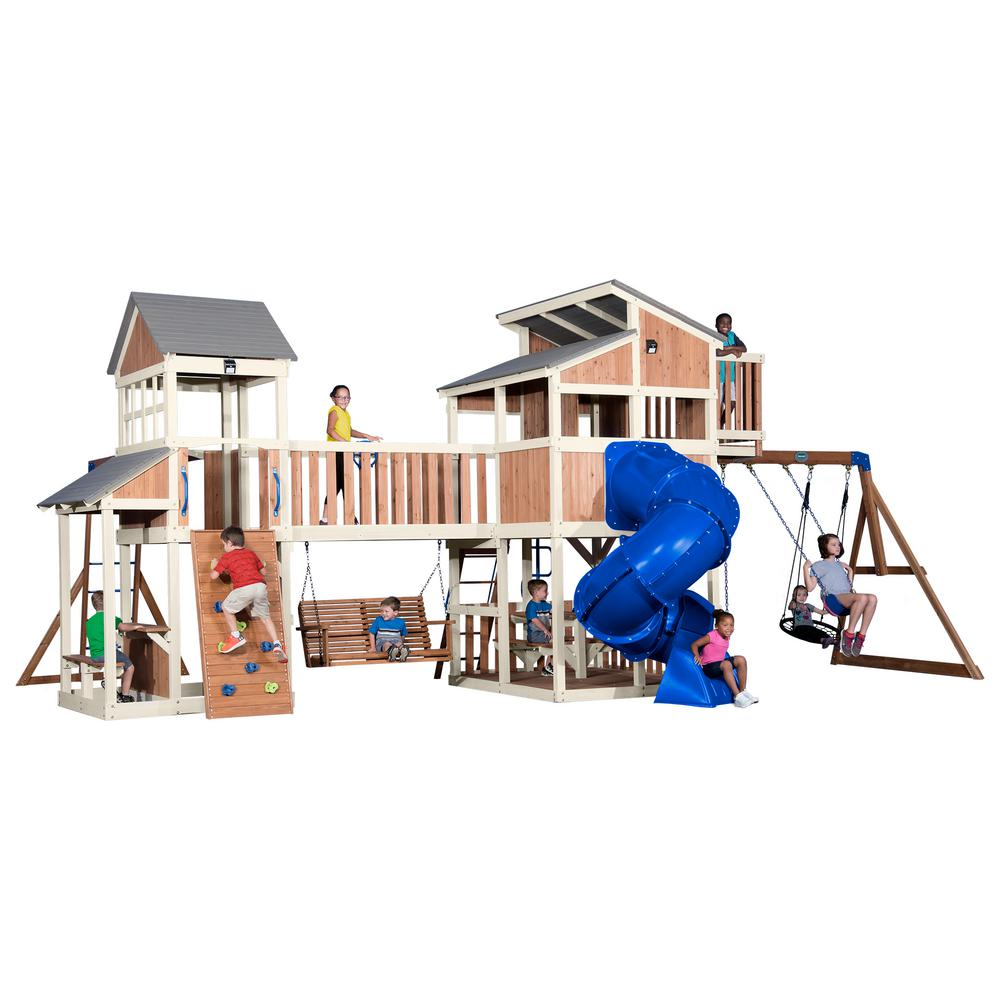 Backyard Discovery Skyline Retreat All Cedar Swing Set