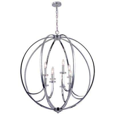 8-Light Polished Chrome Chandelier
