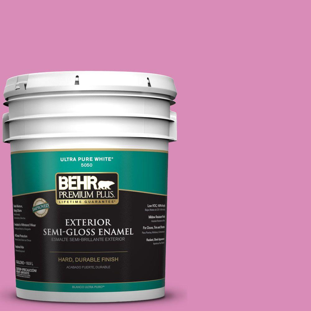 BEHR Premium Plus 5-gal. #P120-3 High Maintenance Semi-Gloss Enamel Exterior Paint
