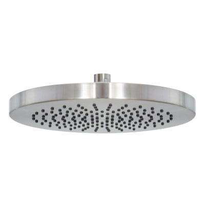 10 in. 1-Spray Round Rain Shower Head in Satin Nickel