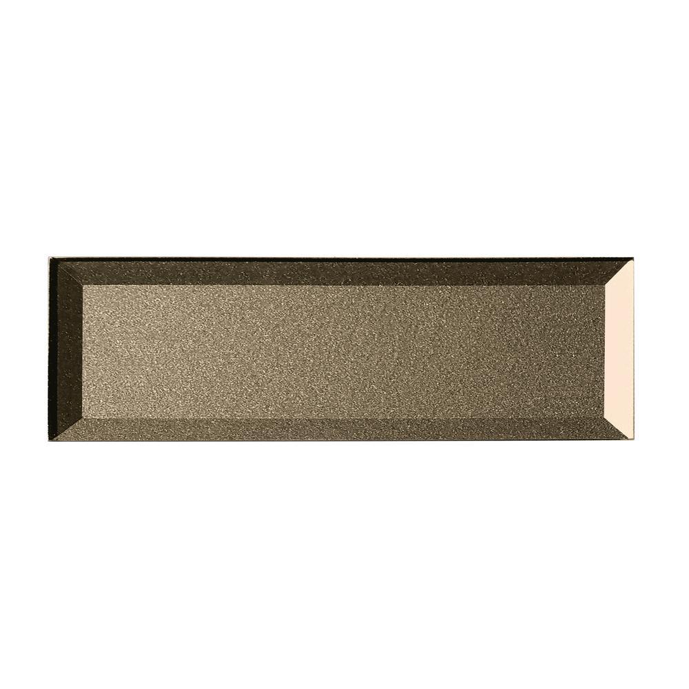 ABOLOS Subway 3'' x 12'' Handmade Metallic Bronze Beveled Glossy Glass