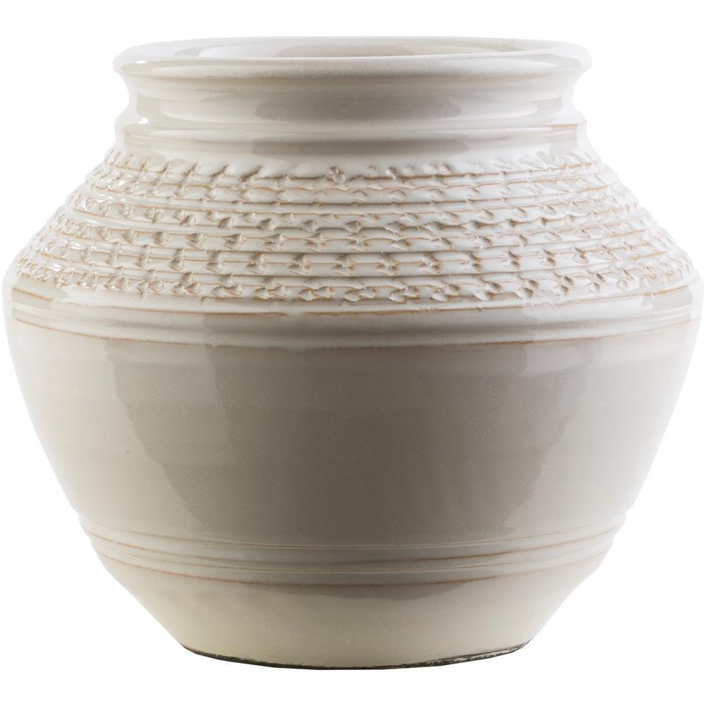 Gerhilde 8.86 in. Khaki Ceramic Decorative Vase