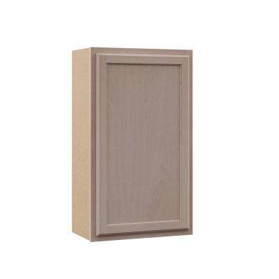 Hampton Assembled 21x36x12 in. Wall Cabinet in Unfinished Beech