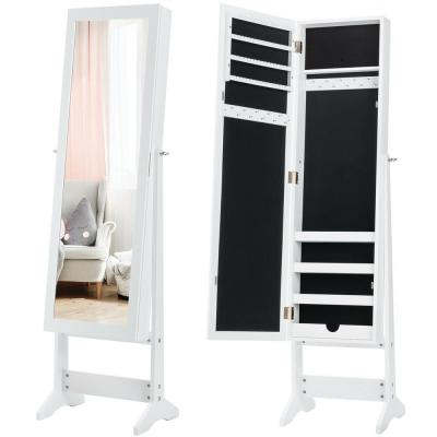 Jewelry Mirrored Cabinet Armoire Organizer Storage Jewelry Box with Stand Christmas Gift