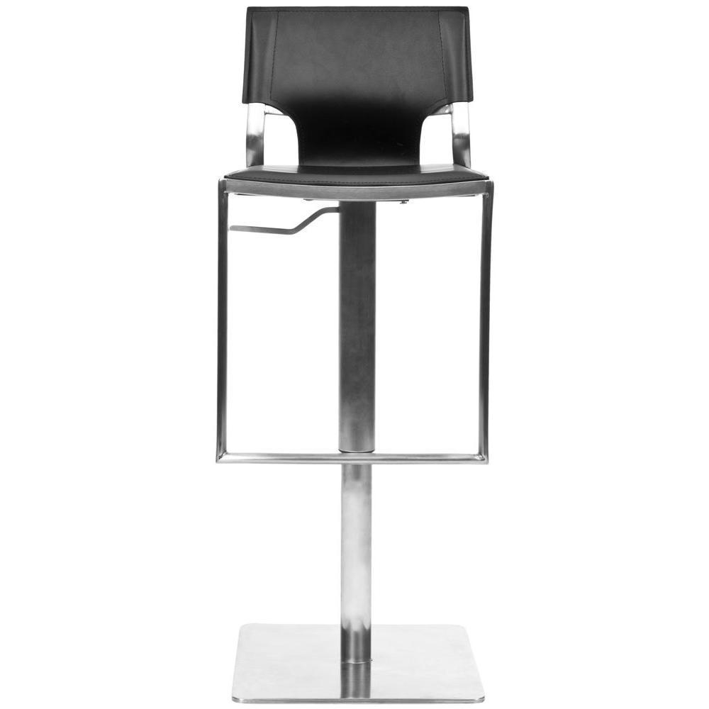Armondo Adjustable Height Chrome Swivel Cushioned Bar Stool