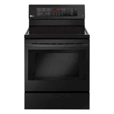 6.3 cu. ft. Electric Range with Convection Oven in Matte Black Stainless Steel