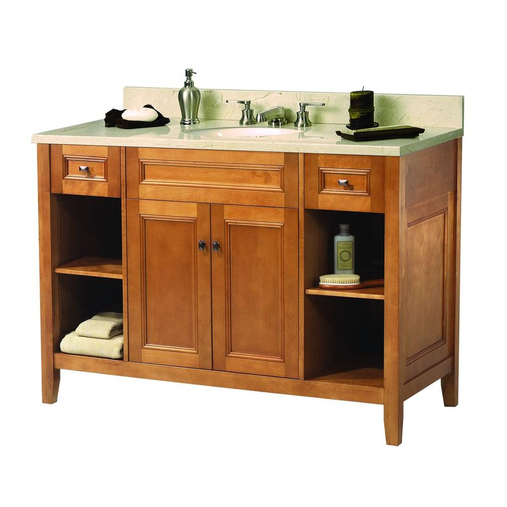 Exhibit 49 in. W x 22 in. D Vanity in Rich